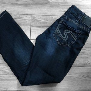 Silver Suki Baby Boot Jeans Womens Size 30x33